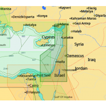 כרטיס מפה C-MAP מסוג Max-N - חופי ישראל