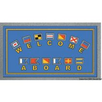 """שטיח כניסה לבית וליאכטה נגד החלקה 40X68 ס""""מ - תוצרת איטליה - """"דגלים"""""""