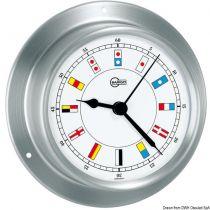 שעון נירוסטה כסוף בעיצוב דגלי קוד BARIGO