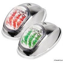 סט פנסי ניווט ירוק/אדום LED גוף נירוסטה