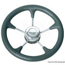 גלגל הגה עם כיסוי דמוי עור שחור