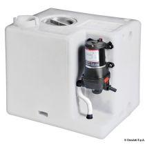 מיכל מים מתוקים 55 ליטר תוצרת איטליה + משאבת מים מובנת 12V