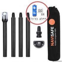 ערכת מוט אור לבן סביב LED על סוללות AA (לשל יפה) לסירות קטנות / דינגי / קיאקים / גומי