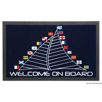 """שטיח כניסה לבית וליאכטה נגד החלקה 50X80 ס""""מ - תוצרת איטליה - """"מפרש עם דגלים"""""""