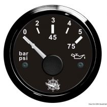 שעון לחץ שמן Oil pressure indicator 0/5 bar black/black