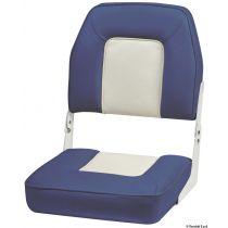 מושב לכסא מתקפל בצבע כחול ולבן