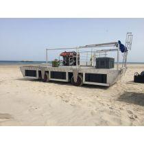 דוברת השקה + גלגלי בלון לחוף בהתאמה אישית